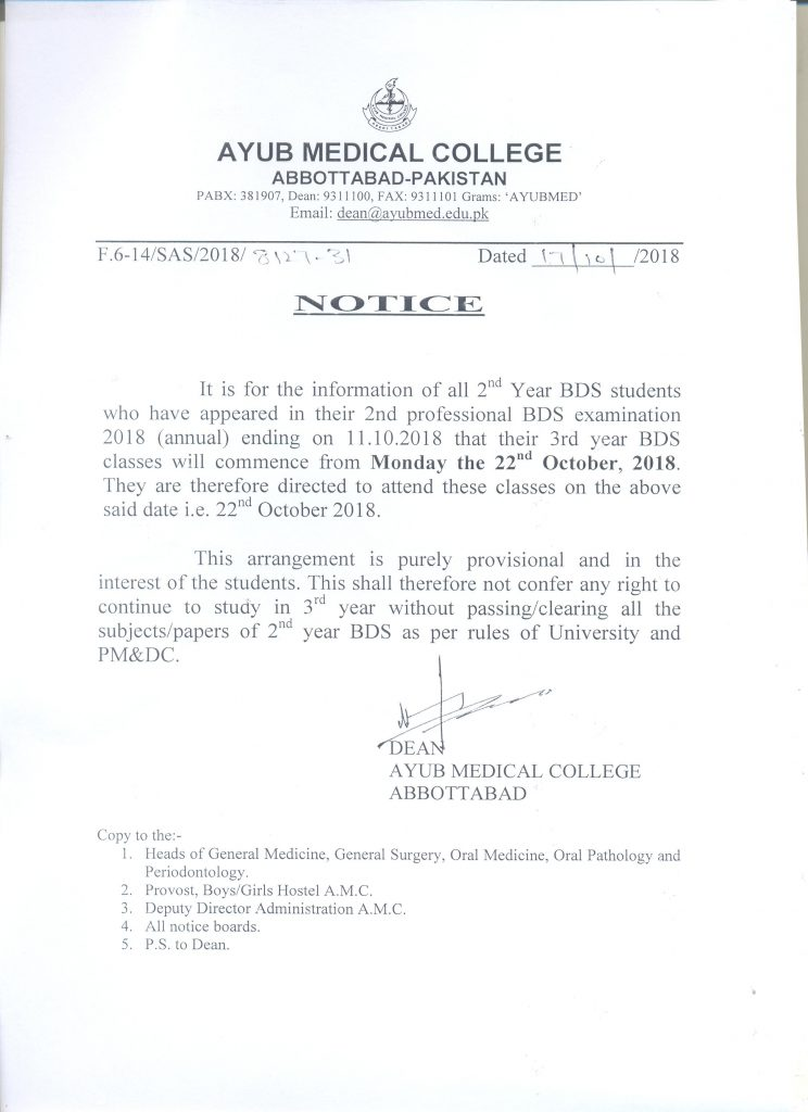 Commencement of Classes