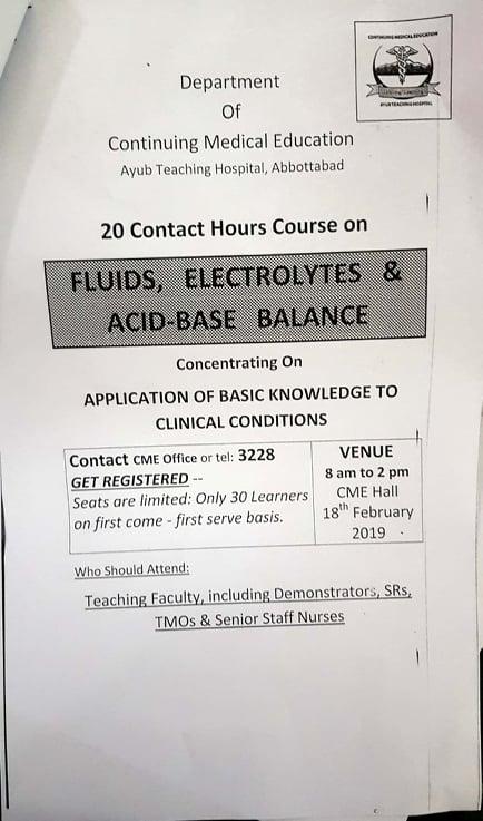 Fluids Electrolytes & Acid-Base Balance - Ayub Medical