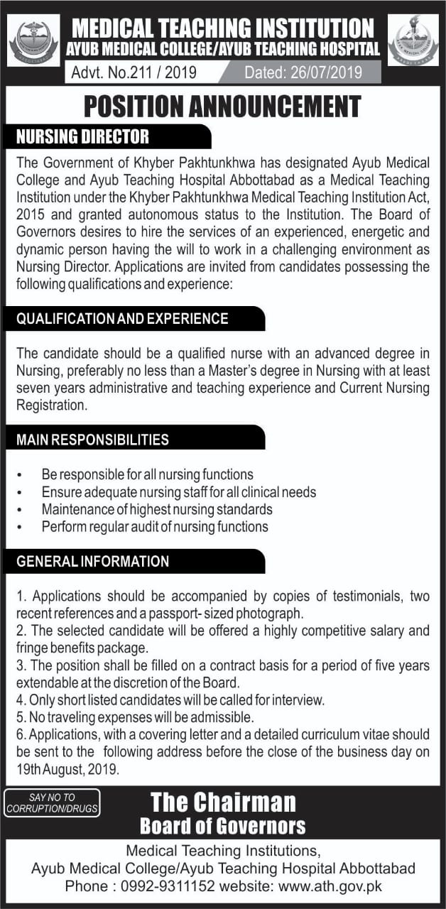 Career Opportunities - Ayub Medical College, Abbottabad